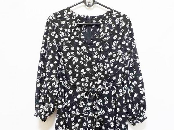 Mila Owen(ミラオーウェン) ワンピース サイズ0 XS レディース美品  黒×白 花柄