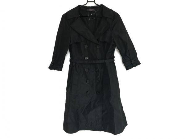 LALTRAMODA(ラルトラモーダ) コート サイズ44 L レディース 黒 冬物/春・秋物/半袖