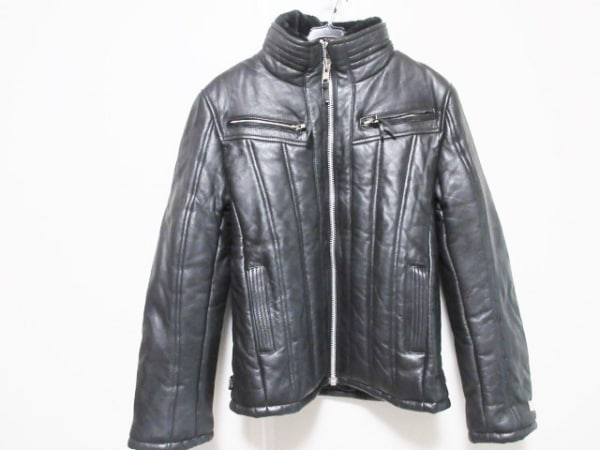 HORN WORKS(ホーンワークス) ライダースジャケット サイズL メンズ 黒 冬物