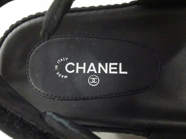 CHANEL(シャネル) サンダル 40c レディース美品  マトラッセ G31848 黒 ナイロン