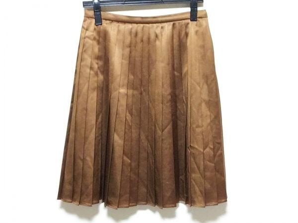 TRU TRUSSARDI(トゥルートラサルディ) スカート レディース美品  ブラウン プリーツ
