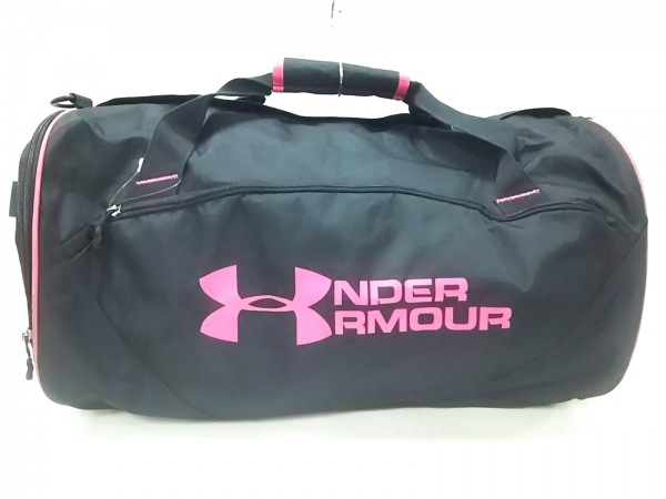 UNDER ARMOUR(アンダーアーマー) ボストンバッグ ダークネイビー×ピンク 化学繊維