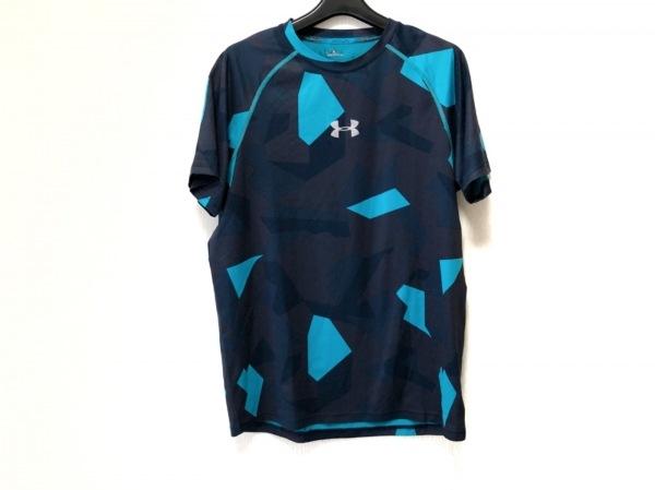 UNDER ARMOUR(アンダーアーマー) 半袖Tシャツ メンズ 黒×ダークネイビー×ブルー