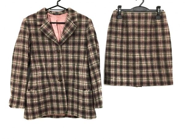 ローラアシュレイ スカートスーツ サイズ8 M レディース ピンク×ベージュ×マルチ