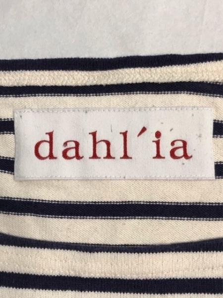 dahl'ia(ダリア) ワンピース レディース アイボリー×ダークネイビー リボン/ボーダー