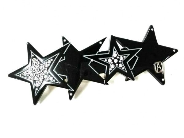 アレクサンドル ドゥ パリ バレッタ美品  プラスチック 黒×シルバー