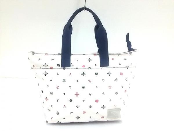 CALLAWAY(キャロウェイ) ハンドバッグ 白×黒×マルチ ナイロン