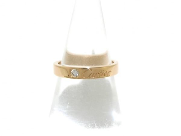 Cartier(カルティエ) リング 48新品同様  - K18PG×ダイヤモンド 1Pダイヤ