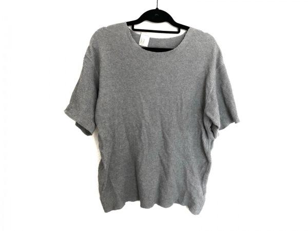 N.Hoolywood(エヌハリウッド) 半袖セーター サイズ38 M メンズ美品  ライトグレー