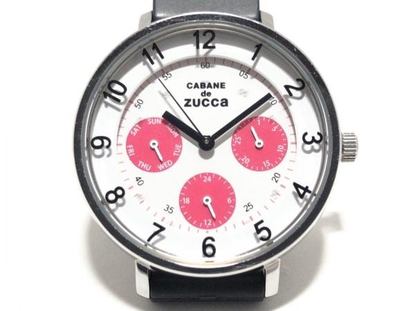 ズッカ 腕時計美品  V33J-0AN0 レディース CABANE de ZUCCA /トリプルカレンダー 白