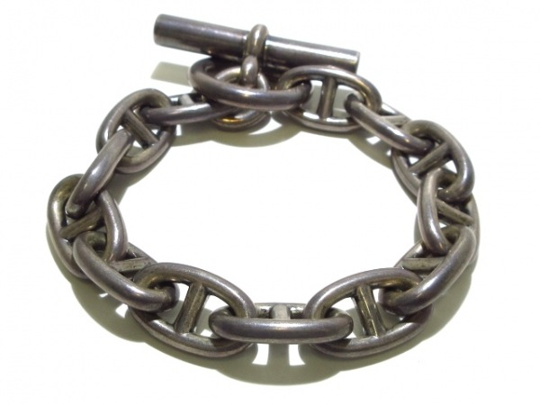 HERMES(エルメス) ブレスレット シェーヌダンクル 金属素材 シルバー