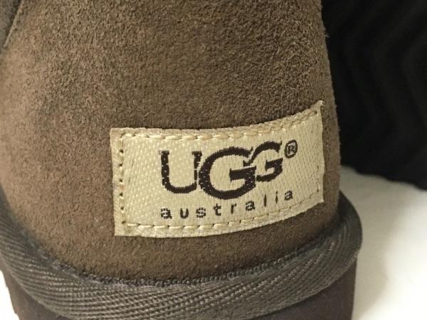 UGG(アグ) ショートブーツ 5 レディース クラシックトール ダークブラウン ムートン