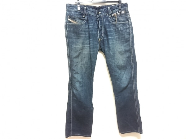 DIESEL(ディーゼル) ジーンズ メンズ paddom special ブルー×ネイビー ダメージ加工