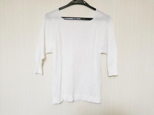 whim gazette(ウィムガゼット) 半袖セーター サイズF レディース 白
