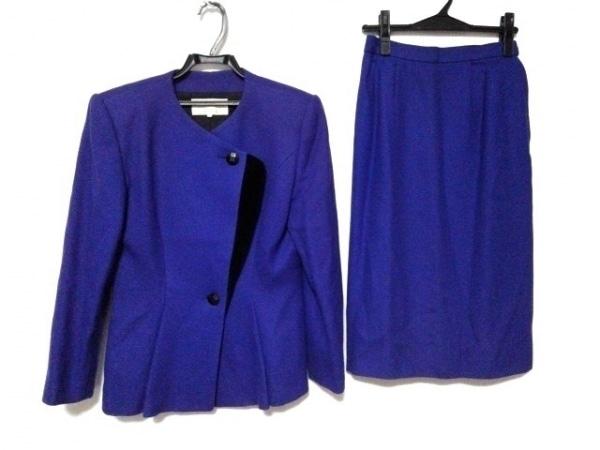 ラピーヌブランシュ スカートスーツ サイズ11 M レディース パープル 肩パッド