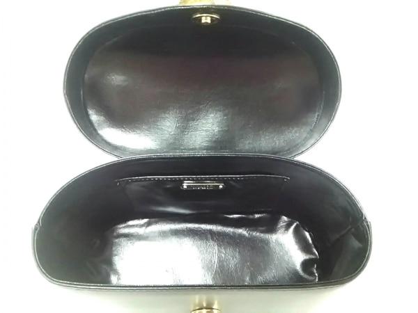WAKO(ワコー) ハンドバッグ美品  黒×ゴールド ミニサイズ レザー×金属素材