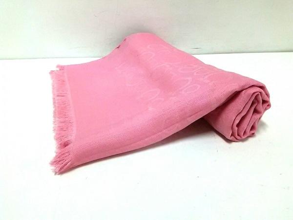 サルバトーレフェラガモ ストール(ショール)新品同様  ガンチーニ ピンク