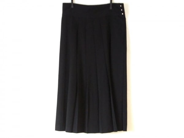 LIMI feu(リミフゥ) ロングスカート サイズS レディース美品  黒 プリーツ