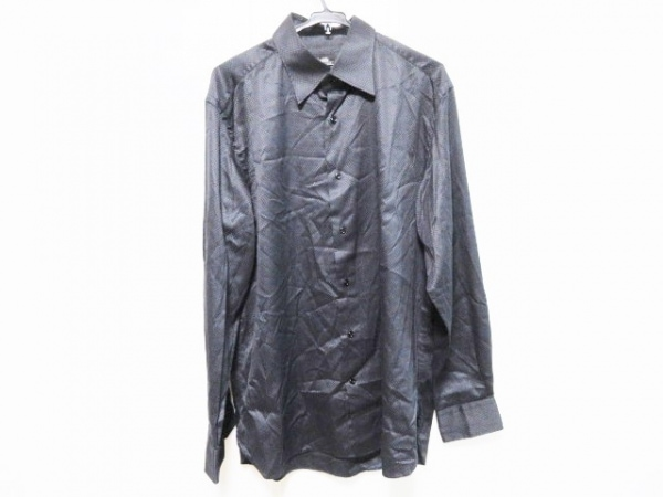 BRILLA(ブリラ) 長袖シャツ サイズ42 L メンズ 黒 チェック柄