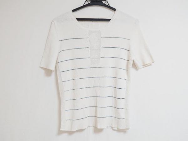 CHANEL(シャネル) 半袖セーター レディース アイボリー×グレー