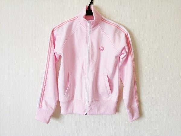FRED PERRY(フレッドペリー) パーカー サイズ4(USA) S レディース ピンク×白