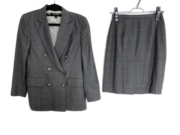 ブルックスブラザーズ スカートスーツ サイズ4P レディース美品  グレー×ベージュ