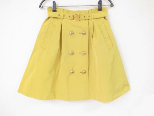 バーバリーブルーレーベル 巻きスカート サイズ38 M レディース美品  イエロー