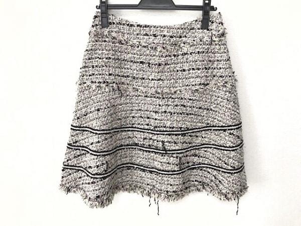 TO BE CHIC(トゥービーシック) スカート サイズ42 L レディース 白×マルチ