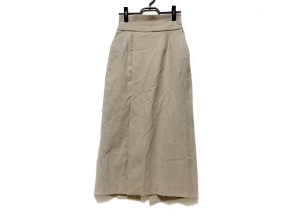 ELENDEEK(エレンディーク) ロングスカート サイズ1 S レディース美品  - - ベージュ