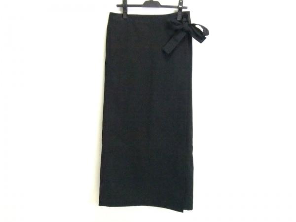 THE NORTH FACE(ノースフェイス) 巻きスカート サイズL レディース美品  黒 ロング丈