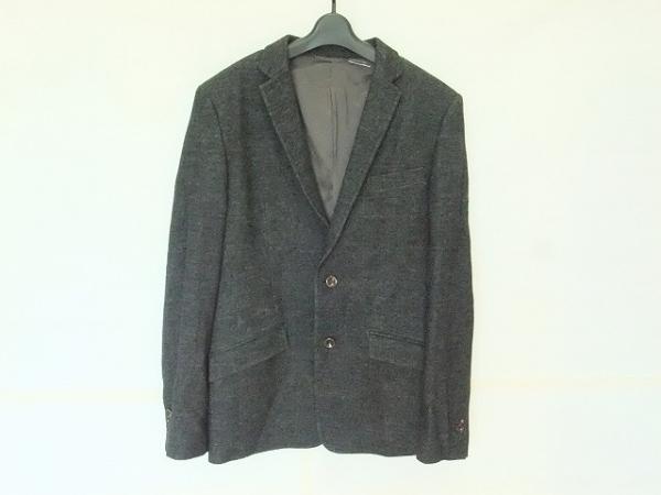 COMME CA MEN(コムサメン) ジャケット サイズL メンズ美品  黒×グレー