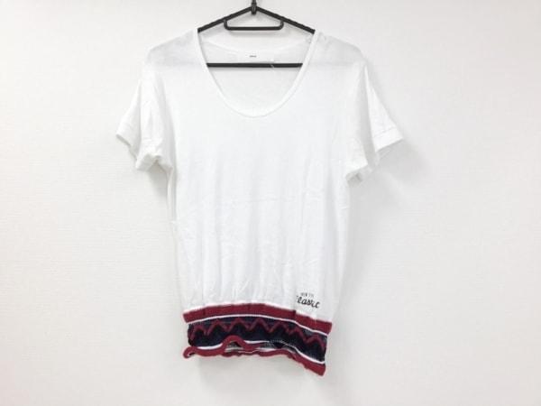 トーガプルラ 半袖Tシャツ サイズONE F レディース美品  白×レッド×ネイビー