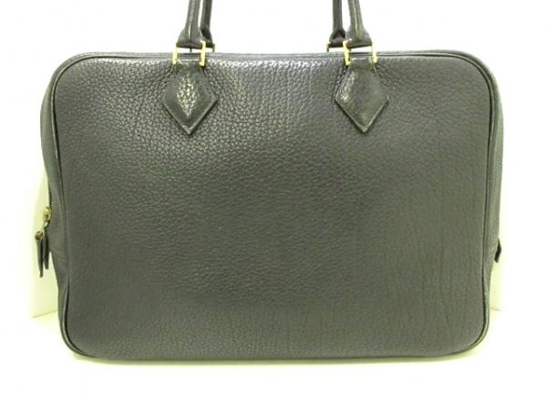 HERMES(エルメス) ハンドバッグ プリュム32 黒 ゴールド金具 トゴ