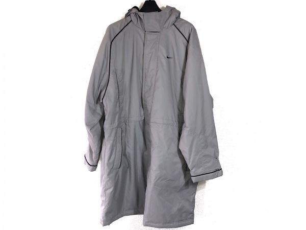 NIKE(ナイキ) コート サイズL メンズ ライトグレー×黒 冬物/ベンチコート/内ボア