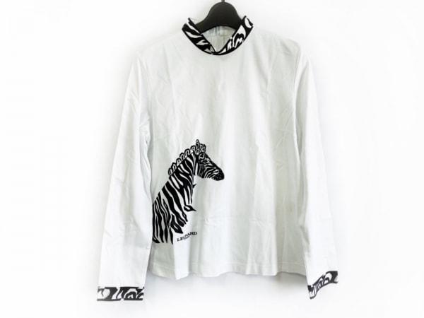 LEONARD(レオナール) 長袖カットソー サイズ40 M レディース新品同様  白×黒