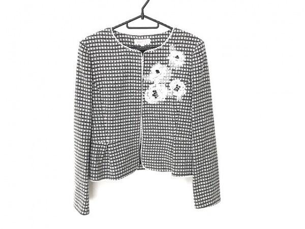 YUKITORII(ユキトリイ) スカートスーツ サイズ40 M レディース美品  白×黒