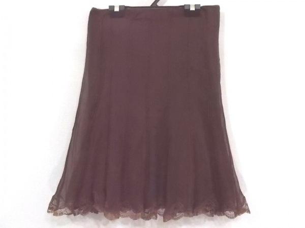 ブルーガールブルマリン スカート サイズ40 M レディース美品  ダークブラウン