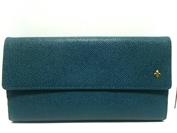 PATRICK COX(パトリックコックス) 長財布美品  ブルー レザー