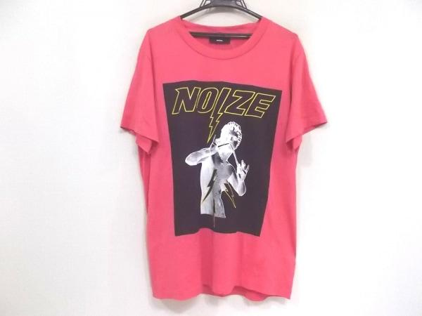 DIESEL(ディーゼル) 半袖Tシャツ サイズXS メンズ美品  ピンク×黒×マルチ NOIZE