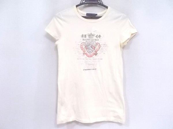 ラルフローレン 半袖Tシャツ サイズS レディース美品  ベージュ×マルチ 刺繍