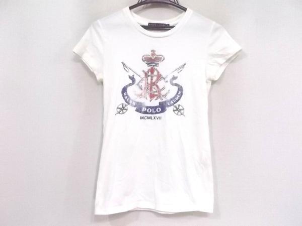 RalphLauren(ラルフローレン) 半袖Tシャツ サイズM レディース 白×マルチ