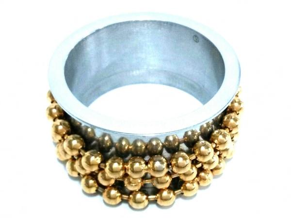 エムエムシックス バングル美品  金属素材 シルバー×ゴールド 3連ボールチェーン