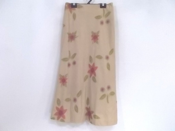 Sybilla(シビラ) ロングスカート サイズM レディース美品  ベージュ×マルチ 花柄