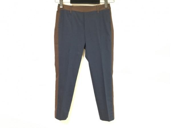HIROKO BIS(ヒロコビス) パンツ サイズ7 S レディース美品  ネイビー×ブラウン