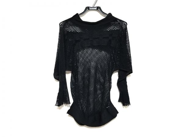 A.POC(イッセイミヤケ) 長袖セーター サイズ2 M レディース美品  黒 FETE/フリンジ