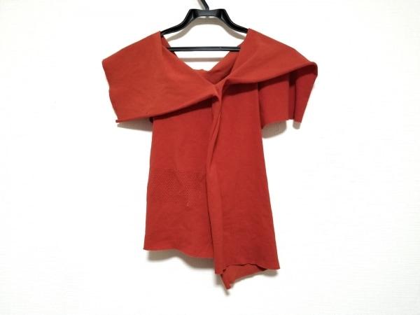 イッセイミヤケ ノースリーブセーター サイズ2 M レディース美品  レッド サンプル品