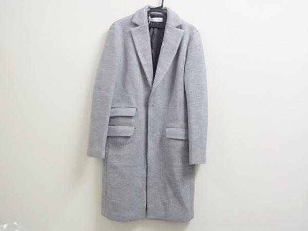 アンダーバーロウ コート サイズ38 M レディース美品  グレー ニット/冬物