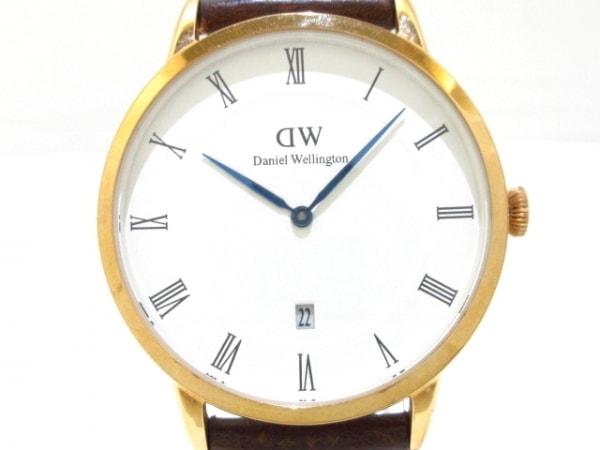 Daniel Wellington(ダニエルウェリントン) 腕時計美品  ダッパー B38R1 メンズ 白