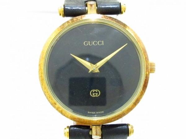 GUCCI(グッチ) 腕時計 ダブルG - ボーイズ 黒
