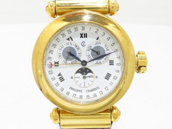 フィリップシャリオール 腕時計 クリストファー・コロンブス - メンズ 白